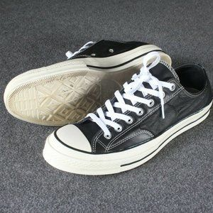 Converse Shoes - Converse All Star Chuck 70s Low Black Leather Ox